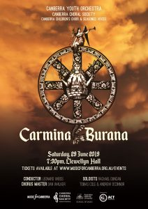 Canberra Youth Orchestra and Canberra Choral Society present Carmina Burana @ Llewellyn Hall | | |